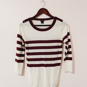 Club Monaco Striped Knot Top